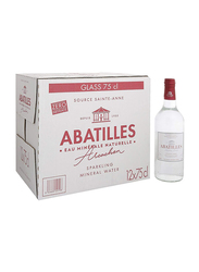 Abatilles Sparkling Natural Mineral Water, 12 Glass Bottles x 750ml