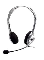 Logitech H110 Stereo On-Ear Noise Cancelling Headphones, Grey