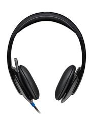 Logitech H540 USB On-Ear Noise Cancelling Headphones, Black