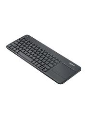 Logitech K400 Professional Wireless English Keyboard, Black