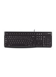 Logitech K120 Wired Keyboard Arabic, Black