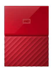Western Digital 2TB HDD My Passport Portable External Hard Drive, USB 3.0, WDBYFT0020BRD, Red
