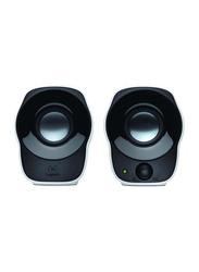 Logitech Z120 Compact Stereo Speakers USB Powered Speakers, Black/White