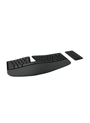 Microsoft, 5KV-00005 Sculpt Ergonomic Wireless English Keyboard, Black