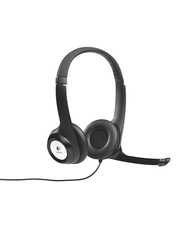 Logitech H390 USB Wireless Over-Ear Noise Cancelling Headphones, Black