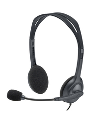 Logitech Wired On-Ear Noise Cancelling Headphones, Black/Silver