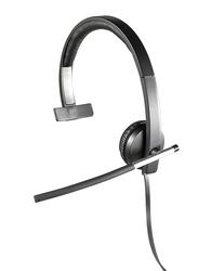 Logitech H650e Mono USB Wired On-Ear Noise Cancelling Headphones, Black