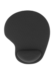 Mouse Pad With Gel Wrist Support, Black