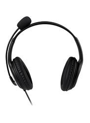 Microsoft LX-2000 LifeChat Wired On-Ear Headphones, Black
