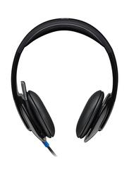 Logitech H540 981-000510 USB On-Ear Noise Cancelling Headphones, Black
