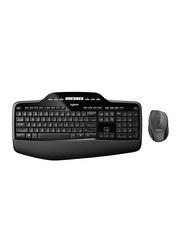 Logitech MK710 Wireless English/Arabic Keyboard And Mouse, Black