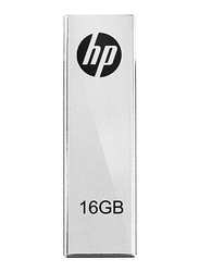 HP 16GB V210W Metal Design USB Flash Drive with Clip, Silver