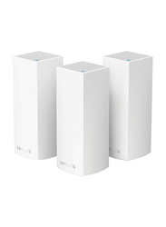 Linksys WHW0303 Velop Intelligent Mesh WiFi System, Tri-Band, 3 Piece, White