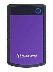 Transcend 1TB HDD StoreJet 25H3P External Desktop Hard Drive, USB 3.0, TS1TSJ25H3P, Purple