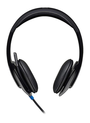Logitech H540 USB On-Ear Noise Cancelling Headphones with Mic, Black