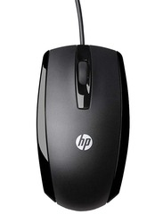 HP X500 USB Wired Mouse, Black