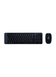 Logitech Mk220 Wireless English/Arabic Keyboard And Mouse, Black
