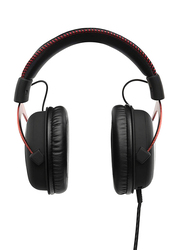 HyperX Cloud Gaming Wired Over-Ear Noise Cancelling Headphones, Red