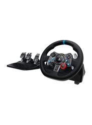 Logitech G29 Driving Force Racing Wheel for Playstation PS4, Black/Blue