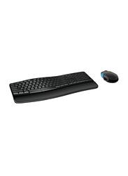 Microsoft L3V-00018 Sculpt Comfort Desktop Wireless English Keyboard, Black