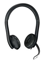 Microsoft LX-6000 LifeChat USB Wired On-Ear Headphones, Black