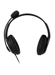 Microsoft LX-3000 LifeChat USB Wired On-Ear Headphones, Black