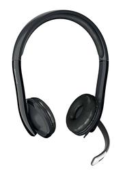 Microsoft LX-4000 LifeChat USB Wired On-Ear Headphones, Black