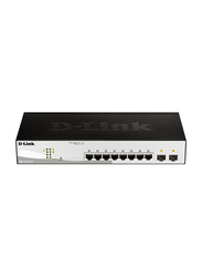 D-Link DGS-1210-10P 10-Port Gigabit Smart Managed PoE Switch, Black