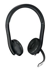 Microsoft LX-4000 7YF-00001 LifeChat USB Wired On-Ear Headphones, Black