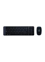 Logitech 920-003161 MK220 Wireless English Keyboard and Mouse, Black
