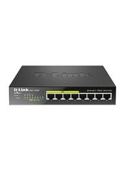 D-Link DGS-1008P/E 8-Port Gigabit PoE Unmanaged Desktop Switch, Black