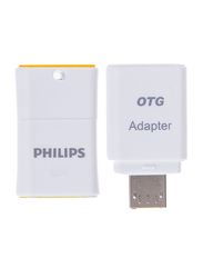 Philips 32GB Pico Edition OTG USB Flash Drive, White