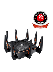 Asus ROG Rapture Tri-band 10 Gigabit Wi-Fi Gaming Router, GT-AX11000, Black