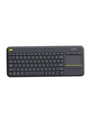 Logitech 5704 K400 Plus Wireless Arabic Keyboard, Black