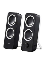 Logitech Z200 Multimedia Speakers with Rich Stereo Sound for Multiple Devices, Black/White