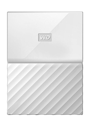 Western Digital 2TB HDD My Passport Portable External Hard Drive, USB 3.0, WDBYFT0020BWT, White