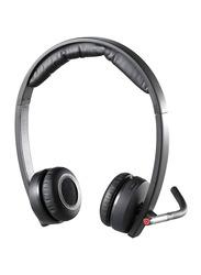 Logitech H820e Double-Ear Stereo Business On-Ear Noise Cancelling Headphones, Black