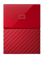 Western Digital 1TB HDD My Passport Portable External Hard Drive, USB 3.0, WDBYNN0010BRD, Red