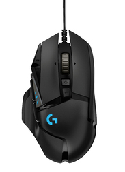 Logitech G502 Hero RGB High Performance Wired Gaming Mouse, Black