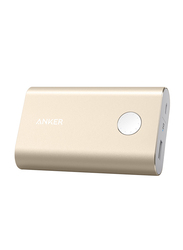 Anker Power Core+ 10050mAh Wired Fast Charging Premium Aluminium Shell Power Bank with Micro-USB Input, Gold