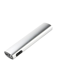 Rapoo 10400 mAh Wired Fast Charging Power Bank with Micro-USB Input and LED Indicator, Silver