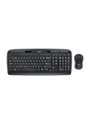 Logitech Mk330 920-003983 Wireless English/Arabic Keyboard and Mouse, Black
