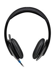 Logitech H540 981-000480 USB On-Ear Noise Cancelling Headphones, Black