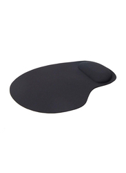 Touch Me Mouse Pad With Gel Wrist Support, Black
