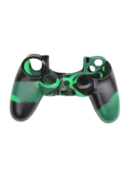 Game Controller Protective Fexible Silicon Cover Case for Sony PlayStation PS4, Black/Green