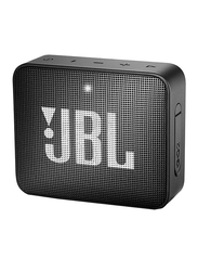 JBL GO 2 Water Submerge Resistant Wireless & Wired Portable Bluetooth Speaker, Black