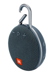 JBL Clip 3 Water Submerge Resistant Wireless & Wired Portable Bluetooth Speaker, Blue