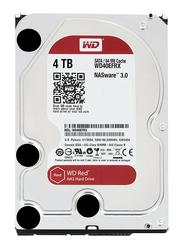 Western Digital 4TB HDD Red NAS WD40EFRX Internal Hard Drive, 64MB Cache 3.5 Inch SATA, Silver