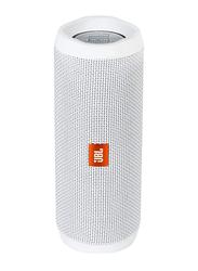 JBL Flip 4 Water Submerge Resistant Wireless & Wired Portable Bluetooth Speaker, White