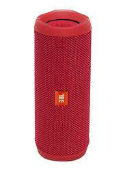 JBL Flip 4 Water Submerge Resistant Wireless & Wired Portable Bluetooth Speaker, Red